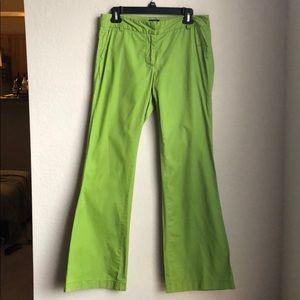 J. Crew Low Fit Green Pants